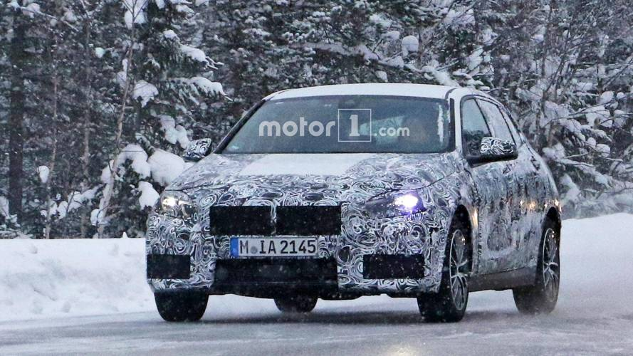 Next-generation BMW 1 Series spotted with production lights