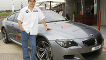 Jacques Villeneuve with BMW M6 Course Car
