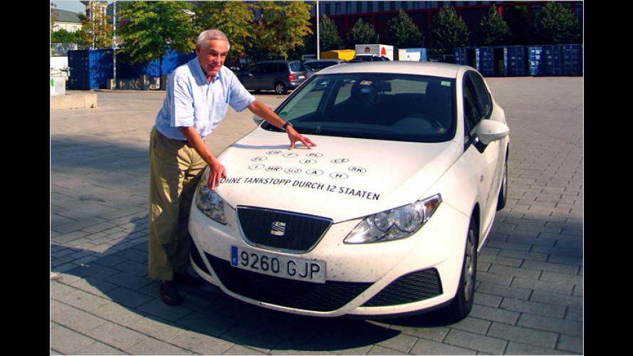 Nur 2,34 Liter auf 100 Kilometer: Rekordfahrt für Seat Ibiza