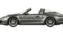 2014 Porsche 911 Targa patent photos