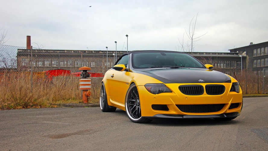 Second-gen BMW M6 Cabrio gets matte yellow wrap and 537 HP