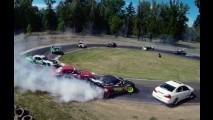 Vídeo: vários carros fazem drift ao mesmo tempo nos EUA