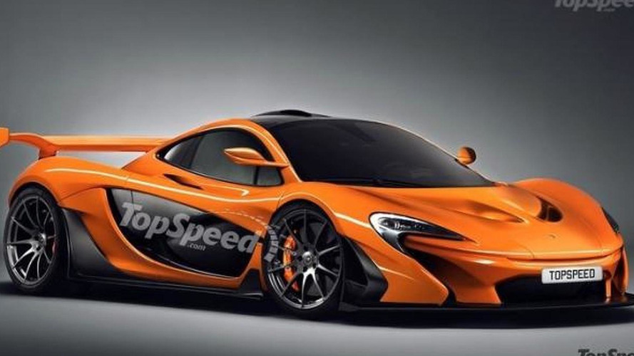 McLaren P1 GTR rendered as road-legal model