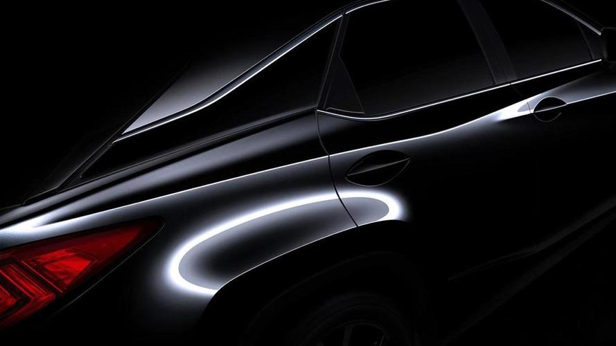 2016 Lexus RX teased ahead of New York launch