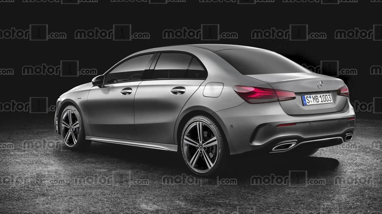 2019 Mercedes A-Class Sedan render