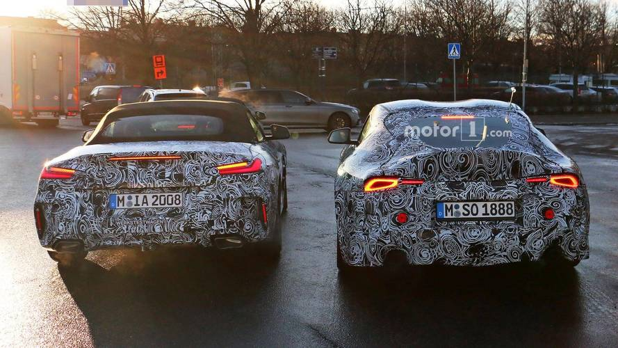 New BMW Z4 and Toyota Supra spotted together in testing
