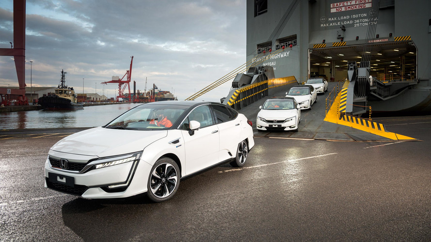 First Honda Clarity Fuel Cell arrives in Europe, they're not for sale