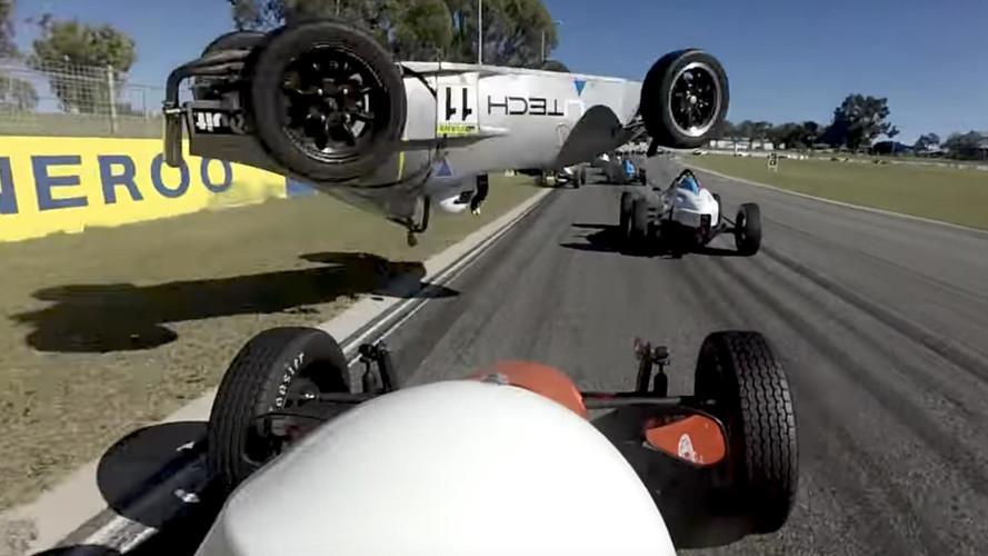 Formula Vee Driver Survives Nasty Flip Crash