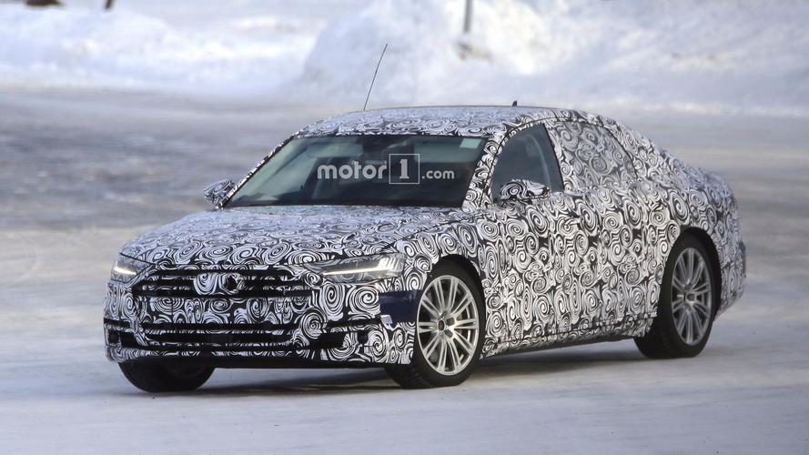 2019 Audi S8, yeni casus fotoğraflarında karlı yolları ısıtıyor