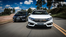 Comparativo Corolla x Civic