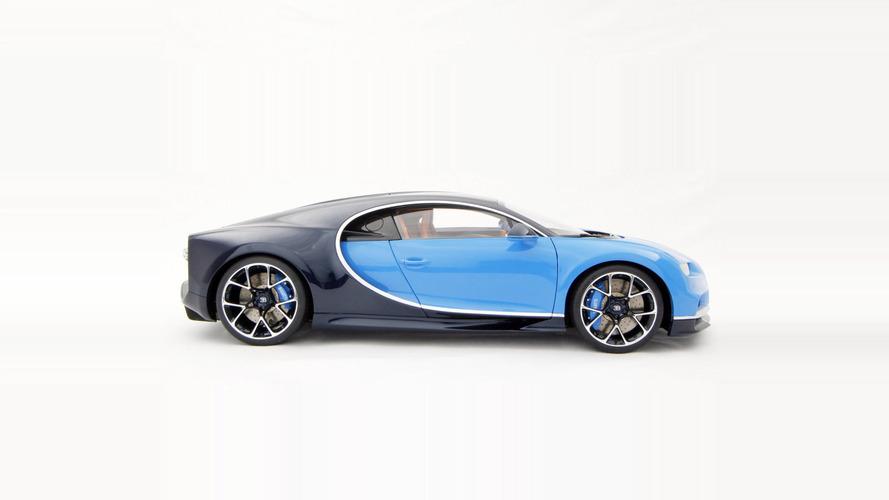 Bugatti Chiron'un 1:8 ölçekli modeli çıktı