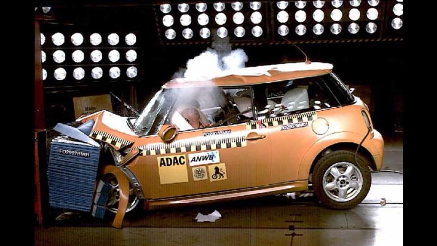 Neuer Crashtest bestätigt: Der neue Mini ist maximal sicher