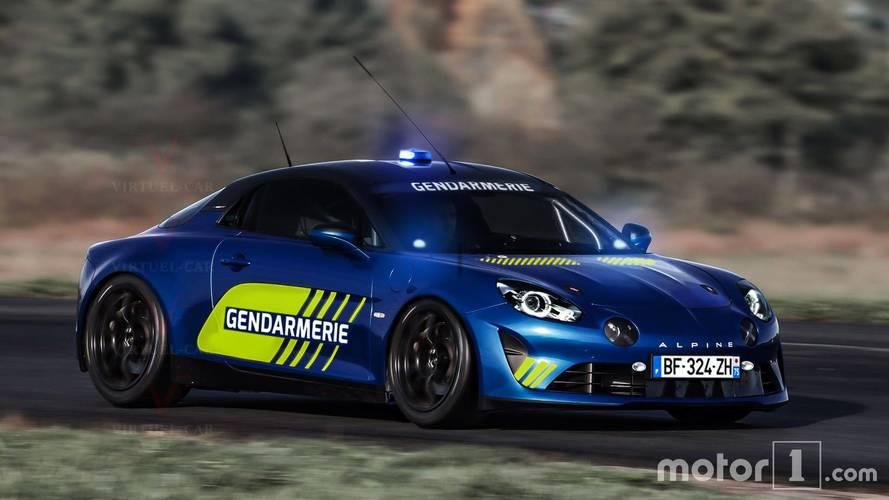 Alpine A110 - Nous avons imaginé une version pour la Gendarmerie