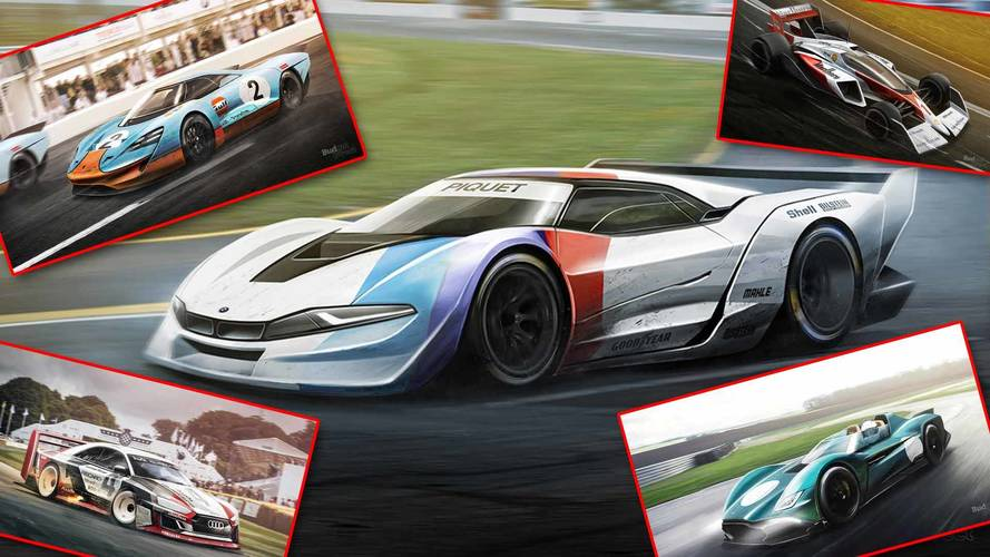 8 Classic Race Cars Rendered To Hit The Track Today