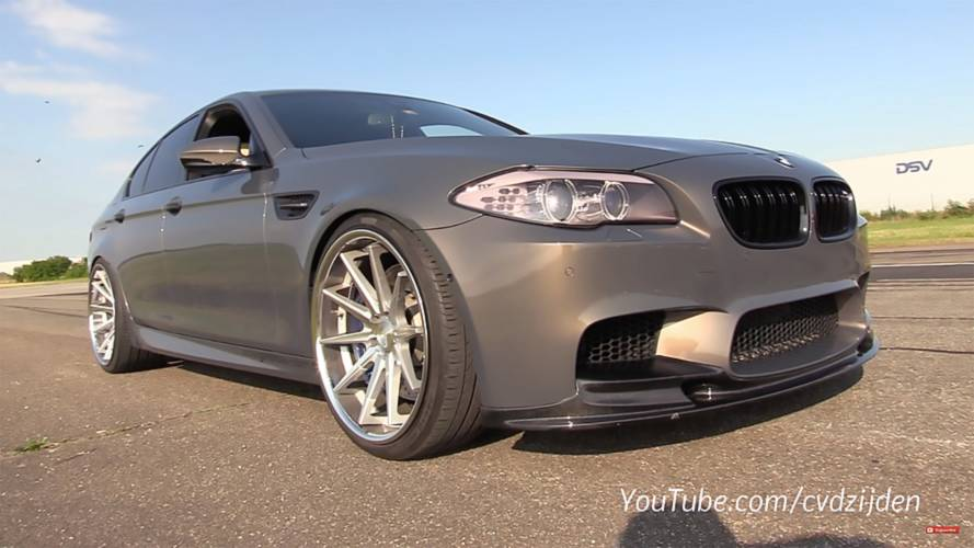 Straight-Piped 720-HP BMW M5 Sounds Like A Tractor, In A Good Way