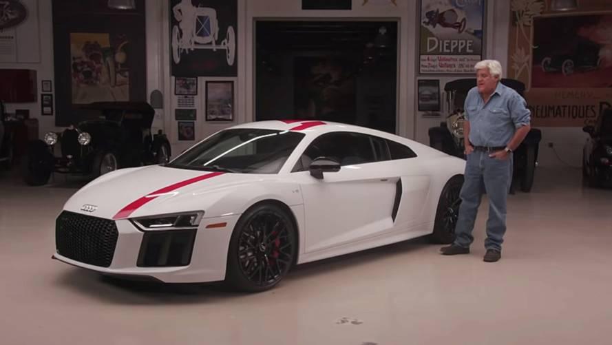 Audi's Tail-Happy R8 V10 RWS Visits Jay Leno's Garage