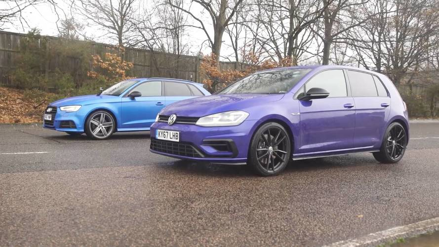 Aile içinde olan aile içinde kalır: Audi S3 vs VW Golf R