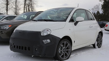 2016 Fiat 500 facelift spy photo