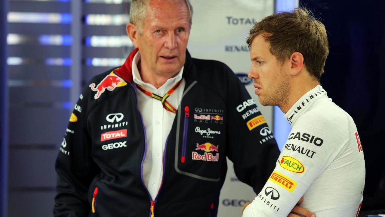Dr Helmut Marko (AUT) with Sebastian Vettel (GER) / XPB