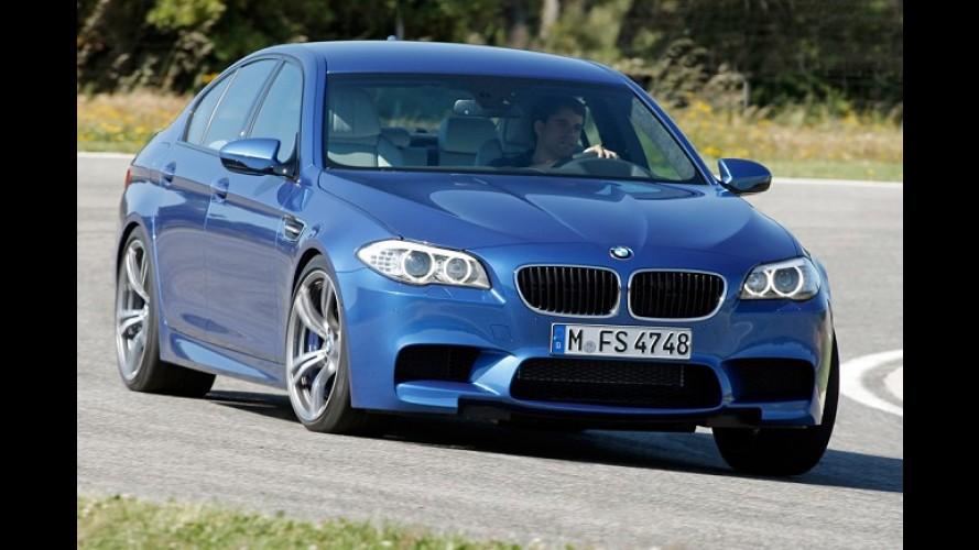 Nova BMW M5 2012 reproduz o ronco do motor através dos alto-falantes