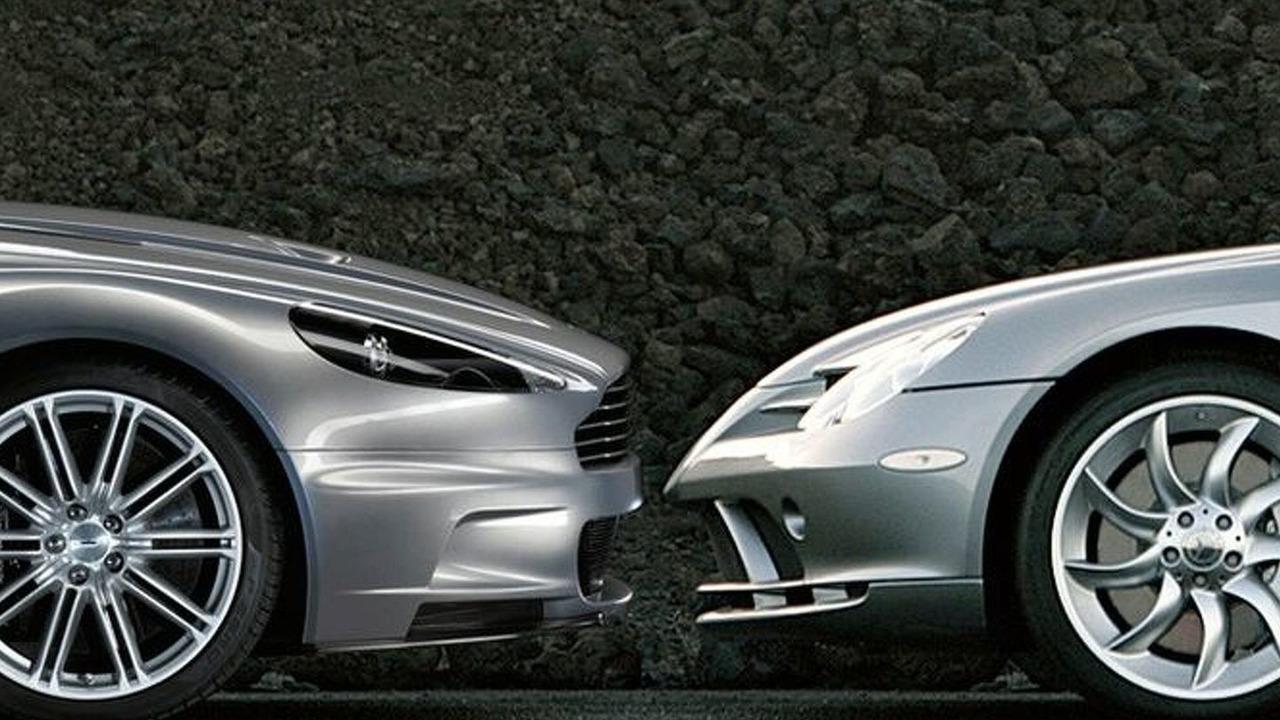 Aston Martin and Mercedes SLR McLaren
