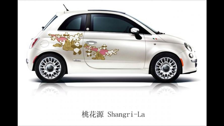 Mit Panda-Dekor: Fiat 500 startet in China als ,First Edition