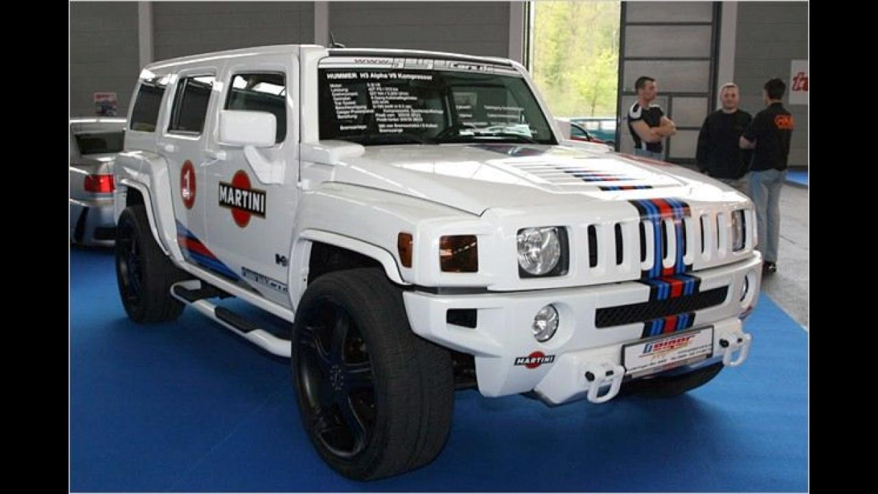 Geiger Cars erweckt die Martini-Lackierung bei diesem Hummer H2 zu neuem Leben