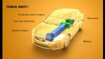 Volvo C30 e V60 elettriche ad autonomia estesa