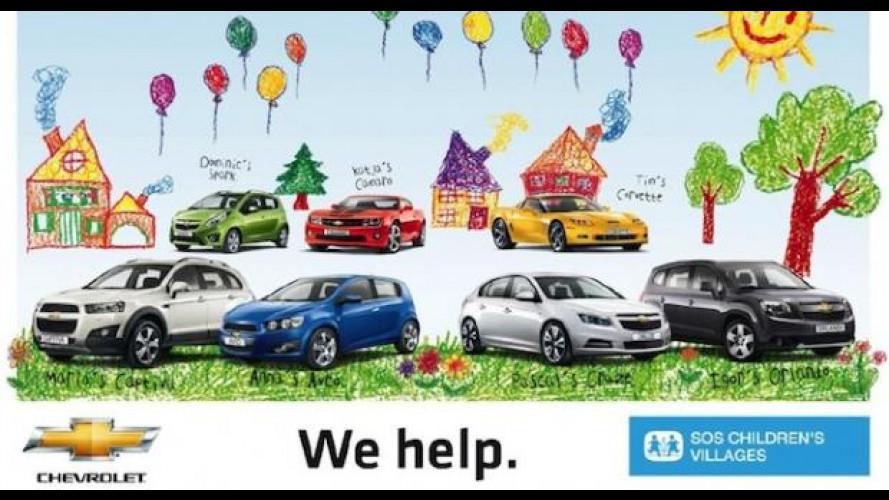 Dona online 3 euro per SOS Villaggi dei Bambini e vinci un viaggio in Chevrolet Volt