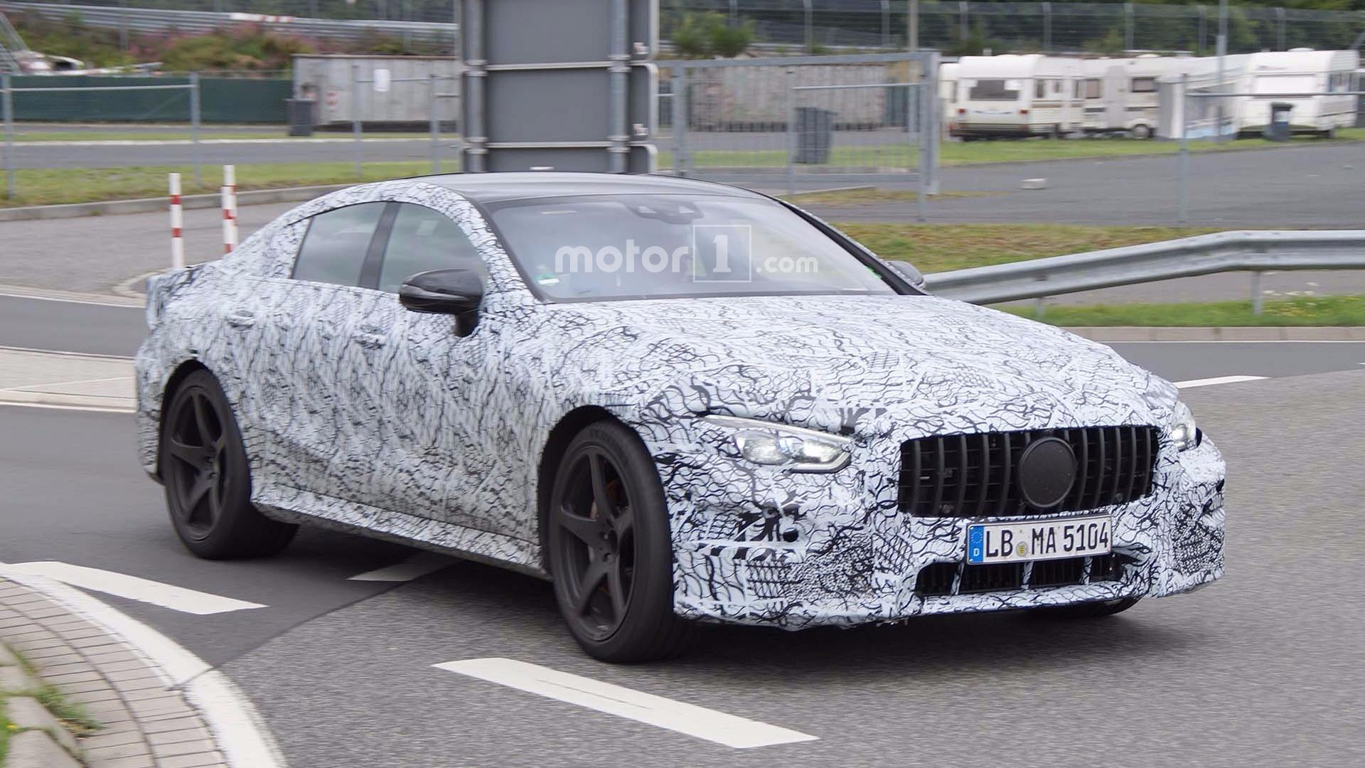 mercedes amg gt four door spied in more detail. Black Bedroom Furniture Sets. Home Design Ideas