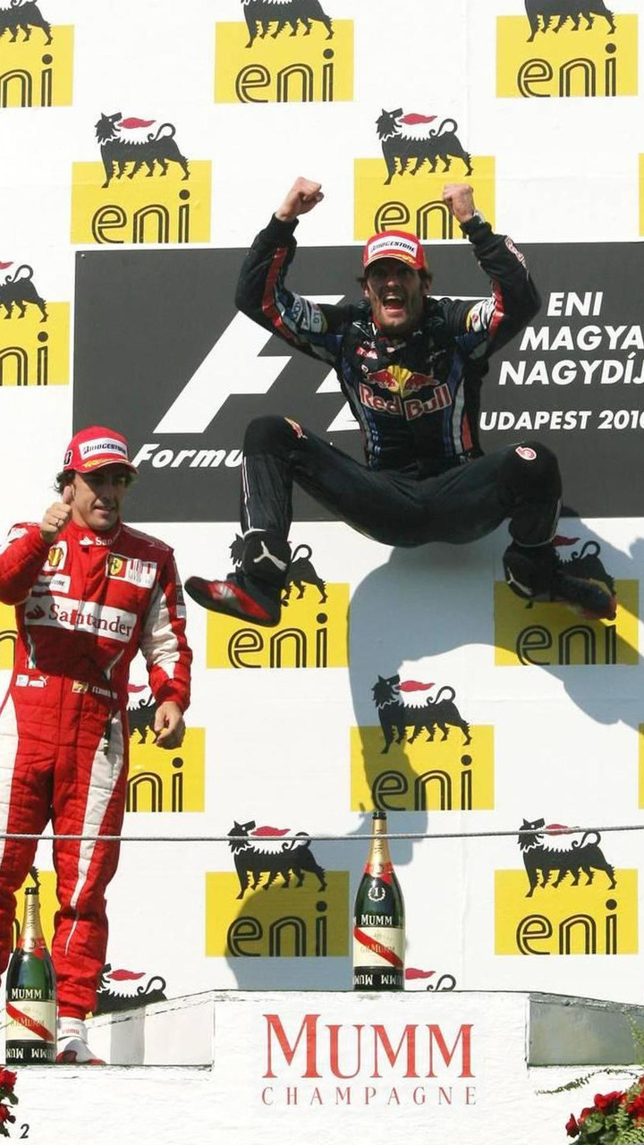 Mark Webber (AUS), Red Bull Racing, Hungarian Grand Prix, Sunday Podium, 01.08.2010 Budapest, Hungary