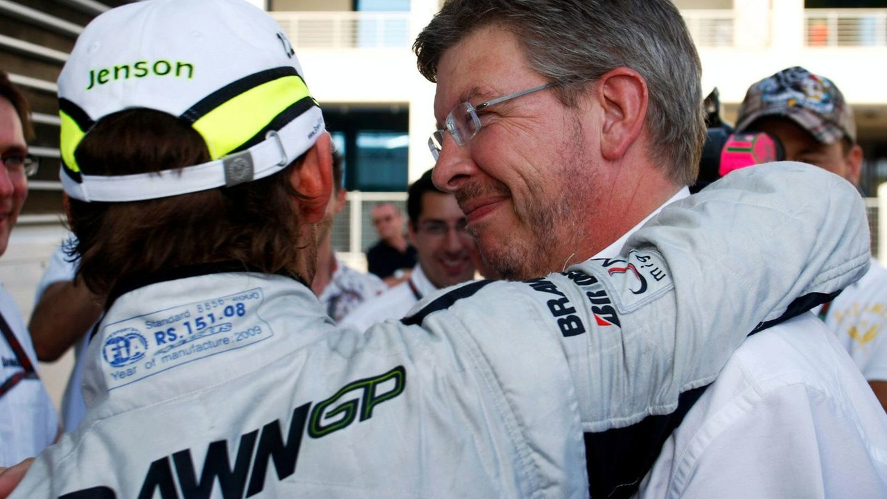 Jensen Button, Ross Brawn, Istanbul Park, Turkey 07.06.2009
