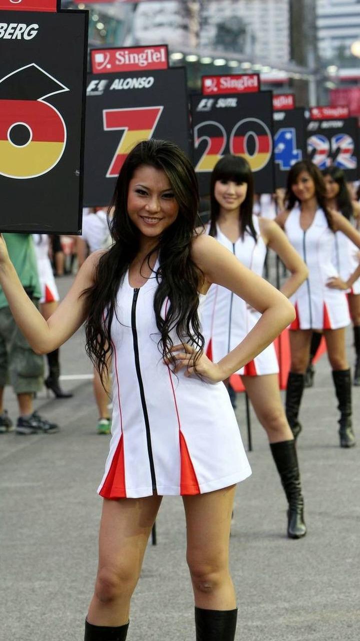 Singapore, Grid girls, Singapore Grand Prix, Sunday Grid Girl, 27.09.2009 Singapore