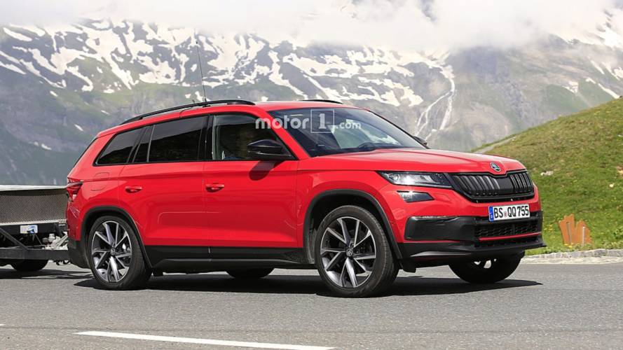 2019 Skoda Kodiaq RS spy photos
