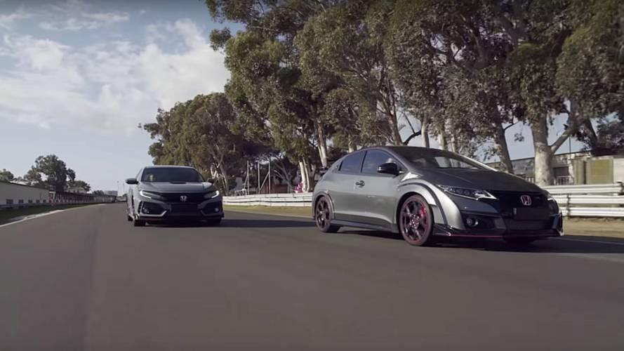 Les 5 générations de Honda Civic Type R en piste ensemble !