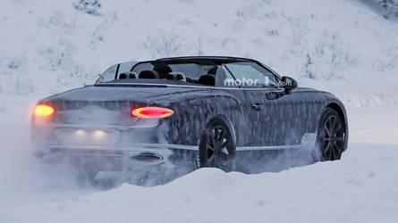 2018 Bentley Continental GTC kara rağmen üstü açık geziyor