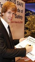 Sebastian Vettel, Decade of Action for Road Safety campaign, Monaco 2009