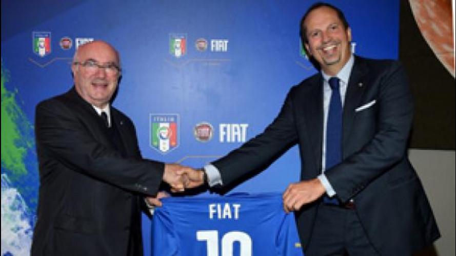 """Fiat si conferma """"l'auto"""" della Nazionale italiana"""