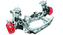 Porsche Panamera double-track arm front axle with adaptive air suspension