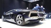 Lamborghini LP700-4 Aventador spied on Geneva show floor, 1200 - 27.02.2011