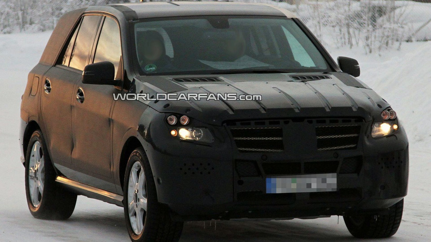 2012 Mercedes ML-Class Spied Cold Weather Testing [video]