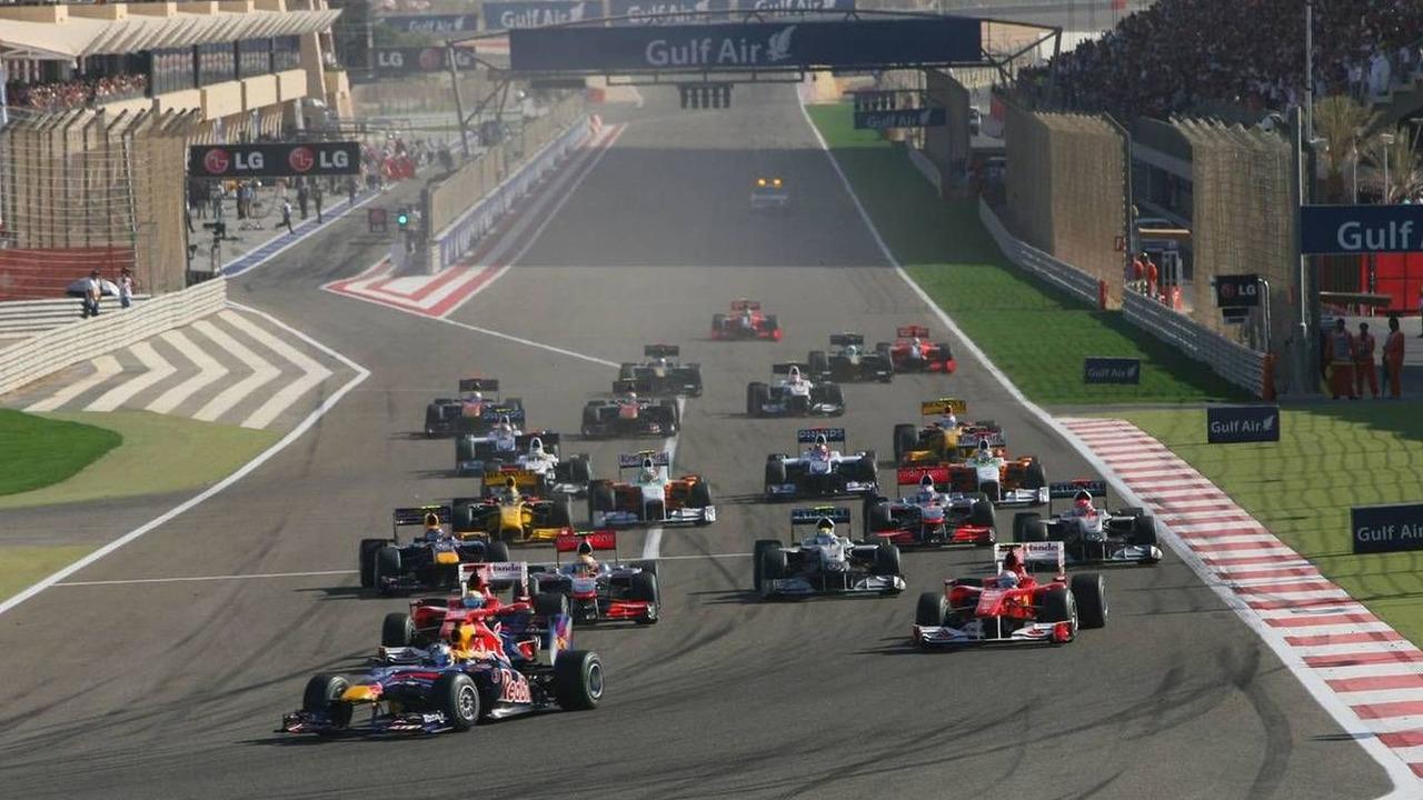 Neginning of the 'Bore' rain Grand Prix