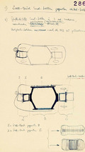 First sketches of the patented crumple zone