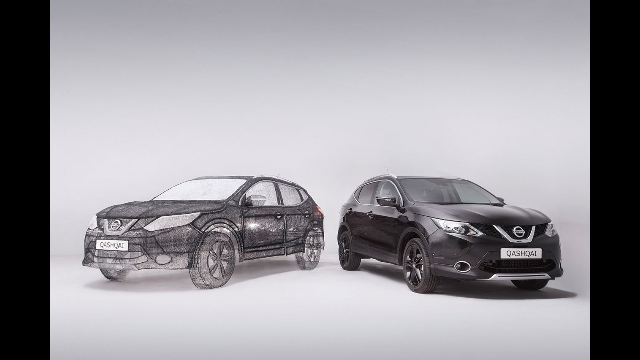 Nissan Qashqai in stampa 3D