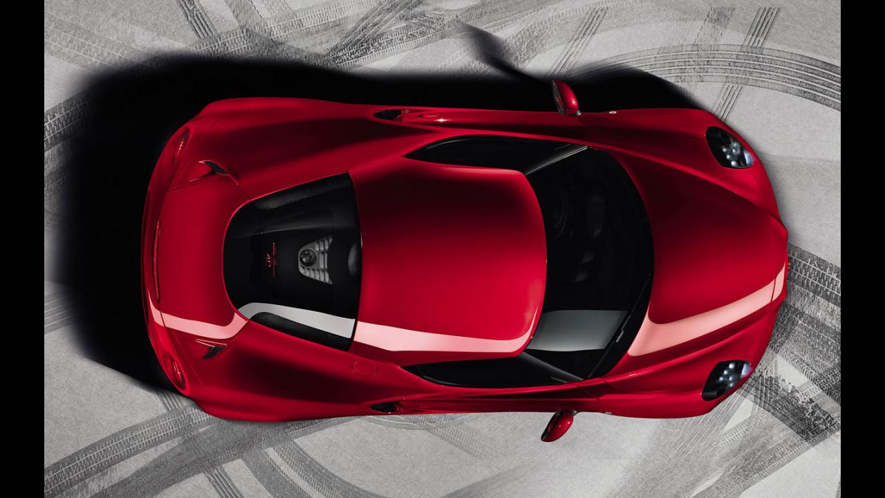 Alfa Romeo 4C: la somiglianza con le Ferrari