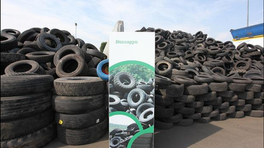 Gomme usate: nel 2012 riciclate oltre 240.000 tonnellate