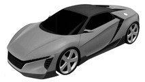 Acura sub-NSX ZSX sports car