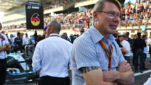 Mika Hakkinen, on the grid