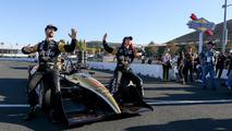 Sharna Burgess with James Hinchcliffe at IndyCar Sonoma GP
