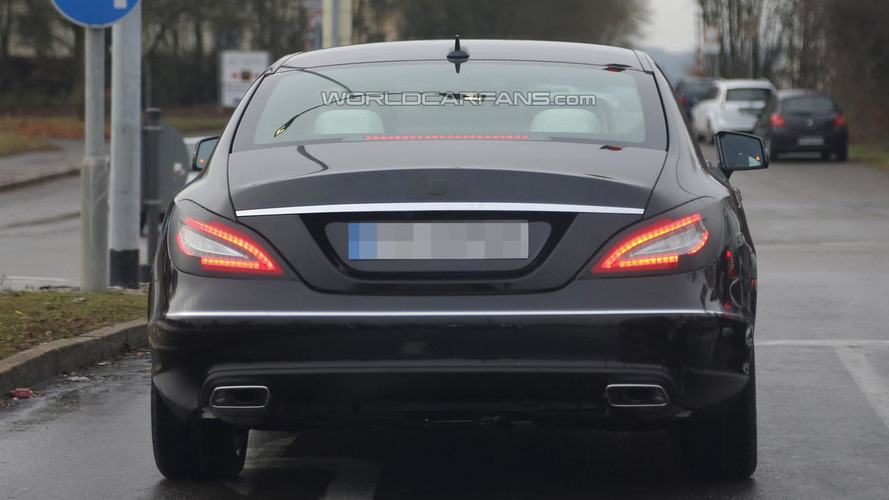 2015 Mercedes-Benz CLS facelift spied hiding updated taillights